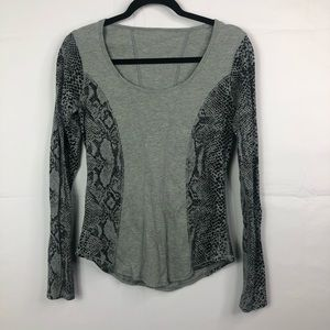 Lululemon long sleeve top animal print